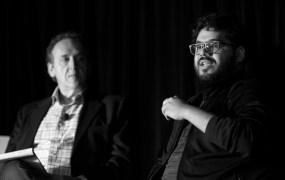 Moderator Joe Maglitta and Ameen Kazerouni (lead data scientist at Zappos) at Transform 2019.