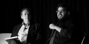 Moderator Joe Maglitta and Ameen Kazerouni (lead data scientist at Zappos) at Transform 2019.