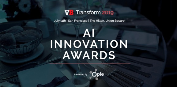 VB Transform AI Innovation Awards header