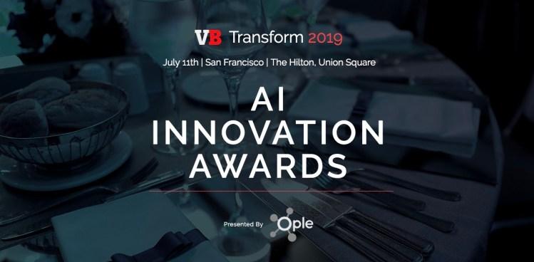 VB Transform AI Innovation Awards header