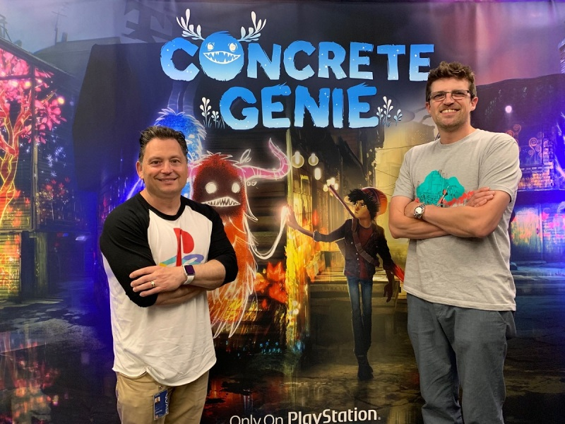 Concrete Genie creators Jeff Sangalli (left) and Dominic Robillard.