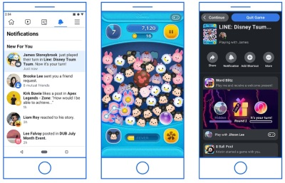 Instant Games will migrate from Messenger to Facebook and