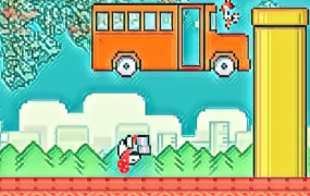 Flappy Bird in his natural habitat.