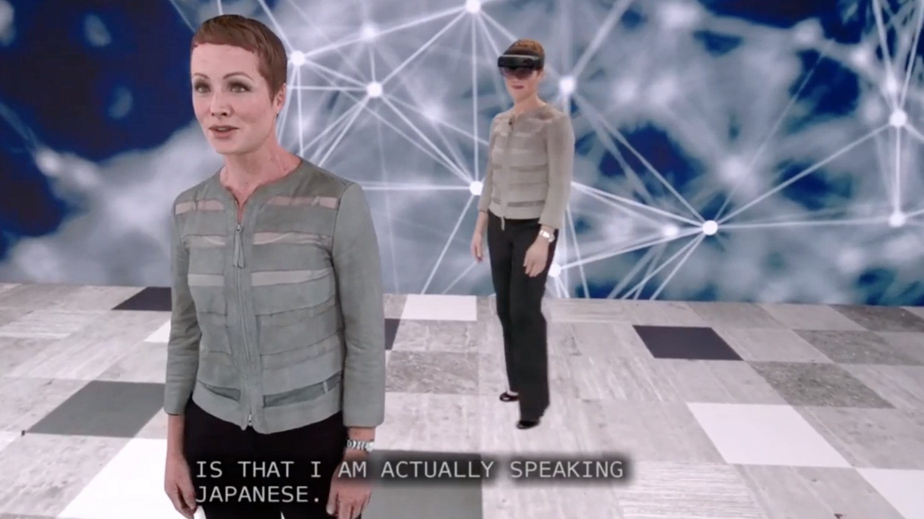 Image result for microsoft hologram speaks foreign language
