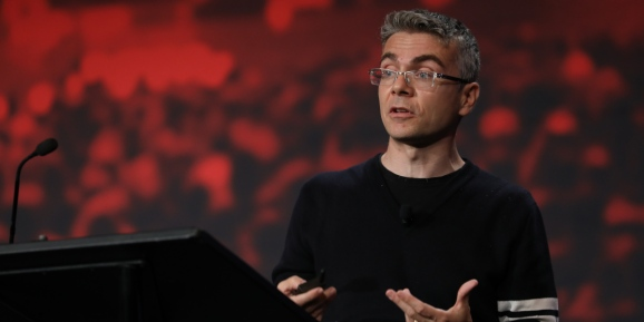 Facebook AI lead Jerome Pesenti onstage at Transform held July 11, 2019