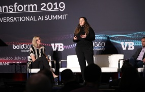 Jessica Lachs and Chris Hansen at Transform 2019
