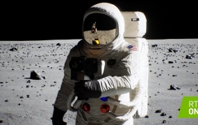 The moon landing, reproduced.