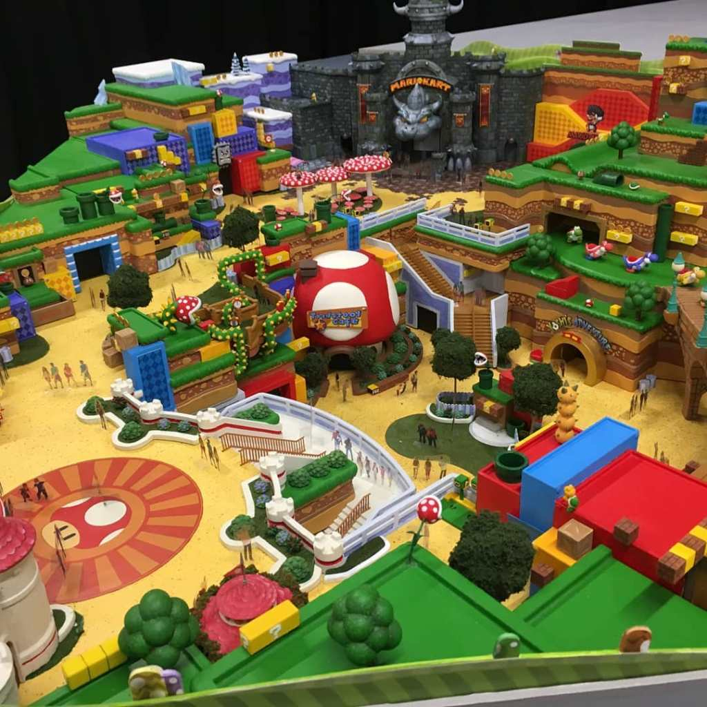 Модель Super Nintendo World.