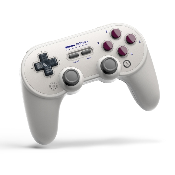 The 8BitDo Pro+ gamepad.
