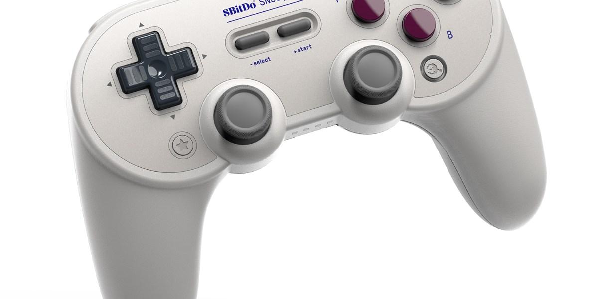 The 8BitDo Pro+ gamepad.