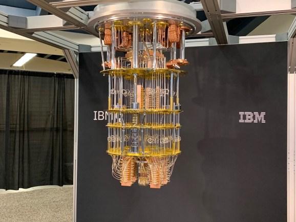 The IBM Q quantum system at Semicon West.