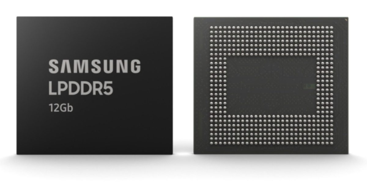 Samsung Starts Mass-producing 5G- And AI-ready 12Gb LPDDR5 DRAM Chips