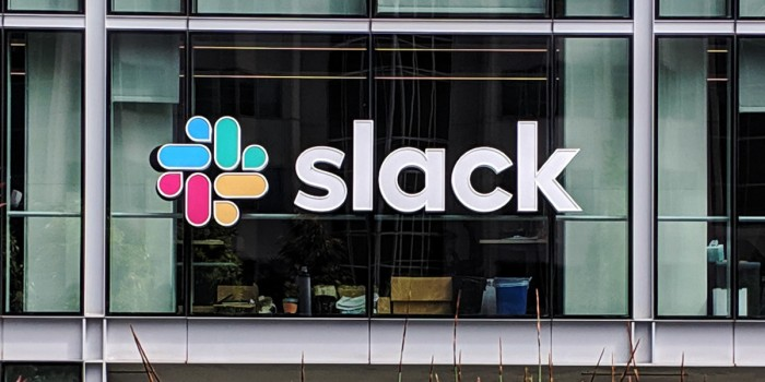 A view of Slack HQ from  Salesforce Park in San Francisco