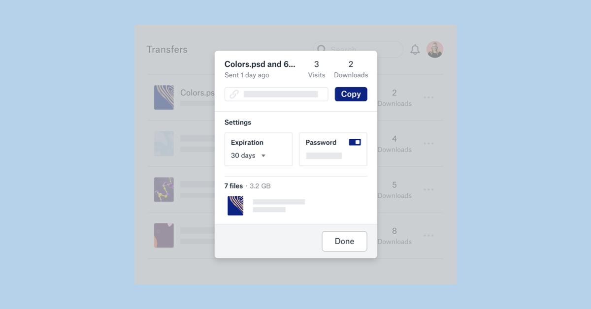 Dropbox rolls out Transfer, its file transfer tool that debuted in beta in July, to all users; Transfer lets paid users share 100GB files and free users 100MB (Paul Sawers/VentureBeat)