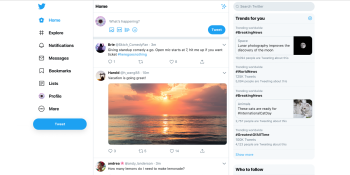 Twitter for web -- 2019 redesign