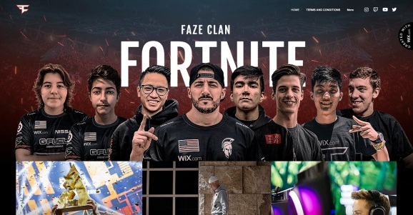 Wix and Faze Clan have teamed up.