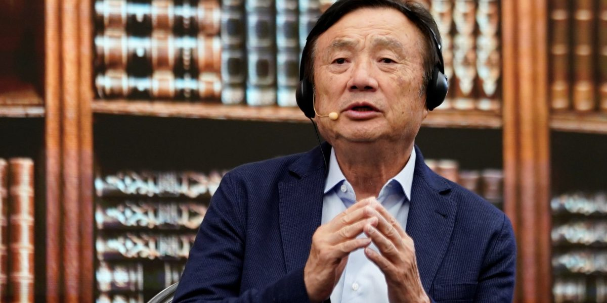 Huawei founder Ren Zhengfei attends a panel discussion at the company headquarters in Shenzhen, Guangdong province, China, June 17, 2019.