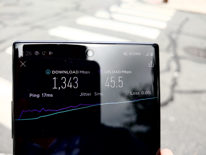 5G Verizon test Galaxy Note10 5G