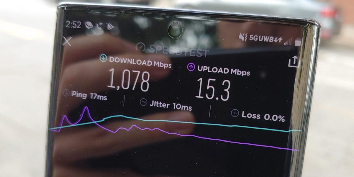 5G Verizon test Galaxy Note10 5G