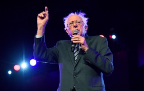 Senator Bernie Sanders, an independent from Vermont and 2020 presidential candidate, speaks onstage during the 2019 Young Leaders Conference - 2020 Presidential Candidates Forum at Georgia International Convention Center on August 17, 2019 in College Park, Georgia.