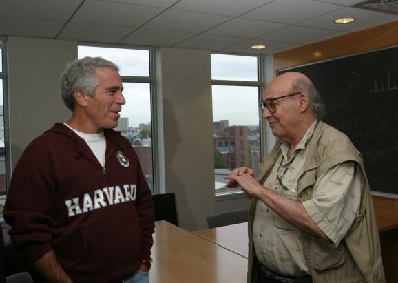 Jeffrey Epstein (left) with Marvin Minsky