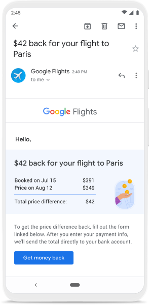 Google trips promotion