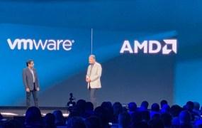 AMD CTO Mark Papermaster (right) with VMWare exec Krish Prasad.