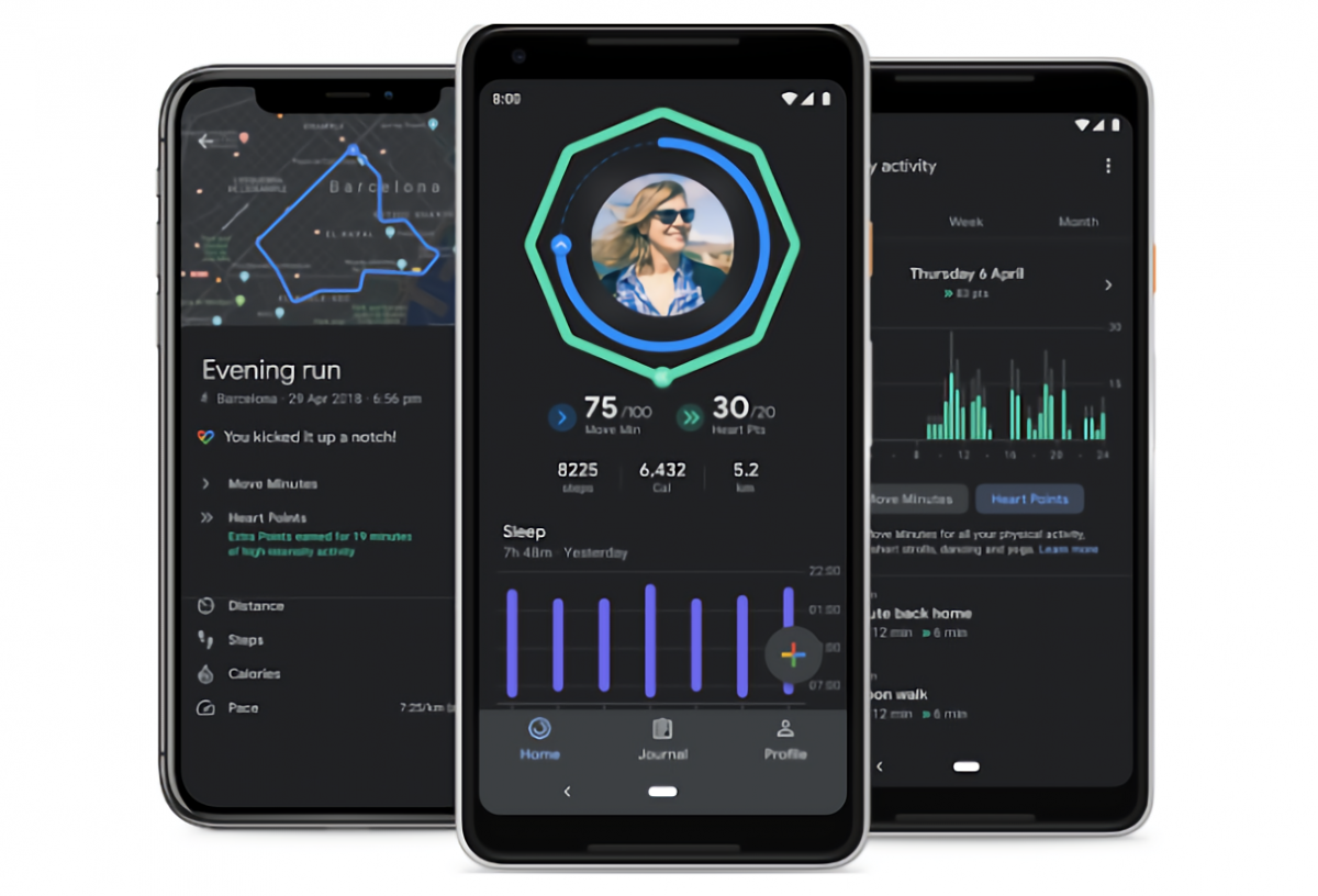 Google Fit gains enhanced sleep tracking, map routes on iOS, and a dark theme