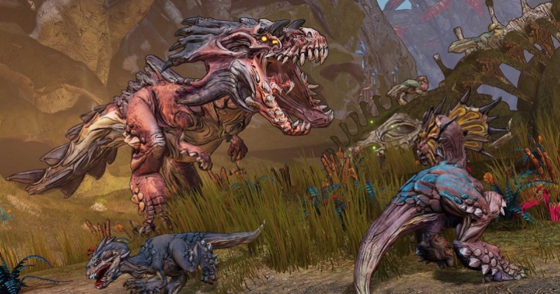 Borderlands 3's Eden-6 planet is a swamp with dinosaurs.