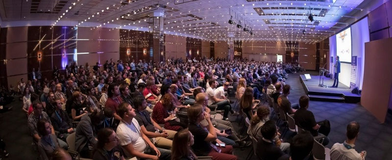 The crowd at Devcom 2019.