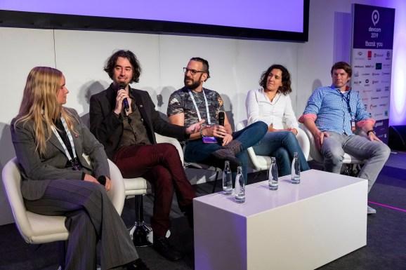 Left to right: Catharina Boehler, James Portnow, Tsahi Liberman, Antonia Koop, and Timo Ullmann