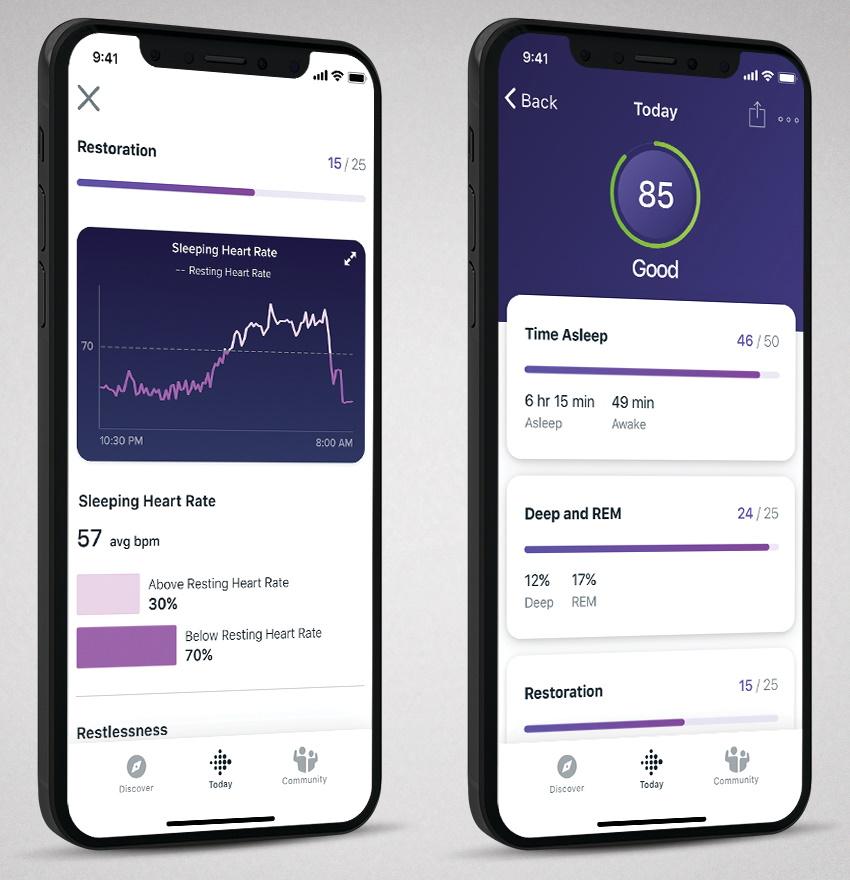 Fitbit Premium for iOS: Sleep Score