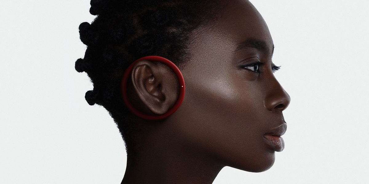 Frog's wireless earpod lets you hear ambient noises as you listen to your speakers.