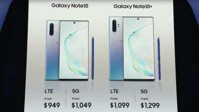 Samsung's Galaxy Note10 makes a 5G nightmare come true: Confusion