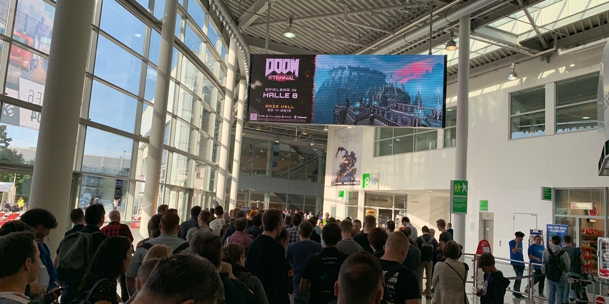 The crowd at Gamescom 2019  on opening day on Tuesday, August 20.