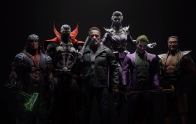 Mortal Kombat 11's Kombat Pack characters includes Joker, which is a character from Persona 5, I believe.