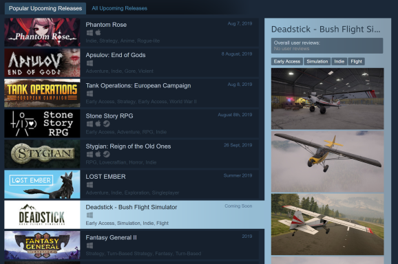 I just added Deadstick to my wishlist, and I am confident that it is actually going to come out soon.
