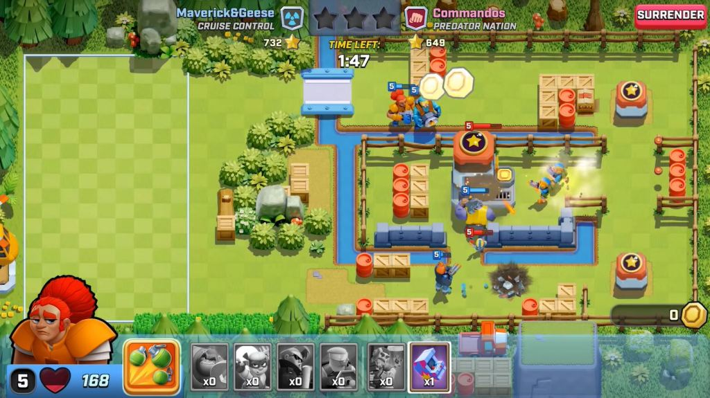 Rush Wars is the latest from Supercell.