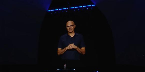 Microsoft CEO Satya Nadella at Samsung's Galaxy Unpacked 2019