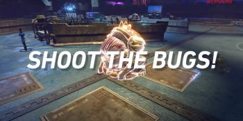 Shoot the bugs!