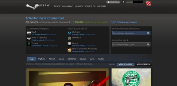 Steam in Spanish.