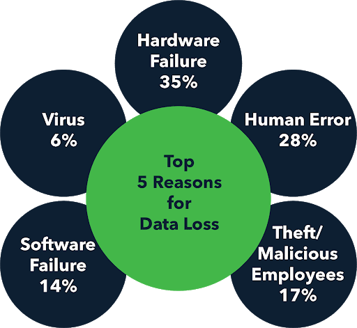 top reasons for data loss