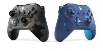 The two new Xbox Wireless Controllers.