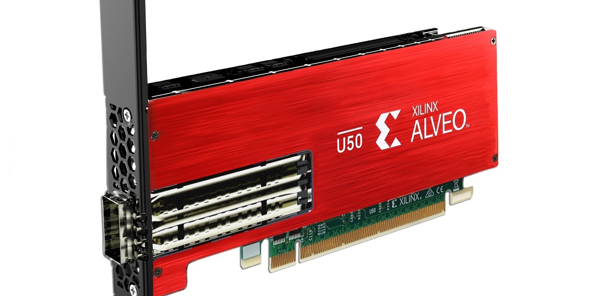 Xilinx U50 Hero Alveo card.