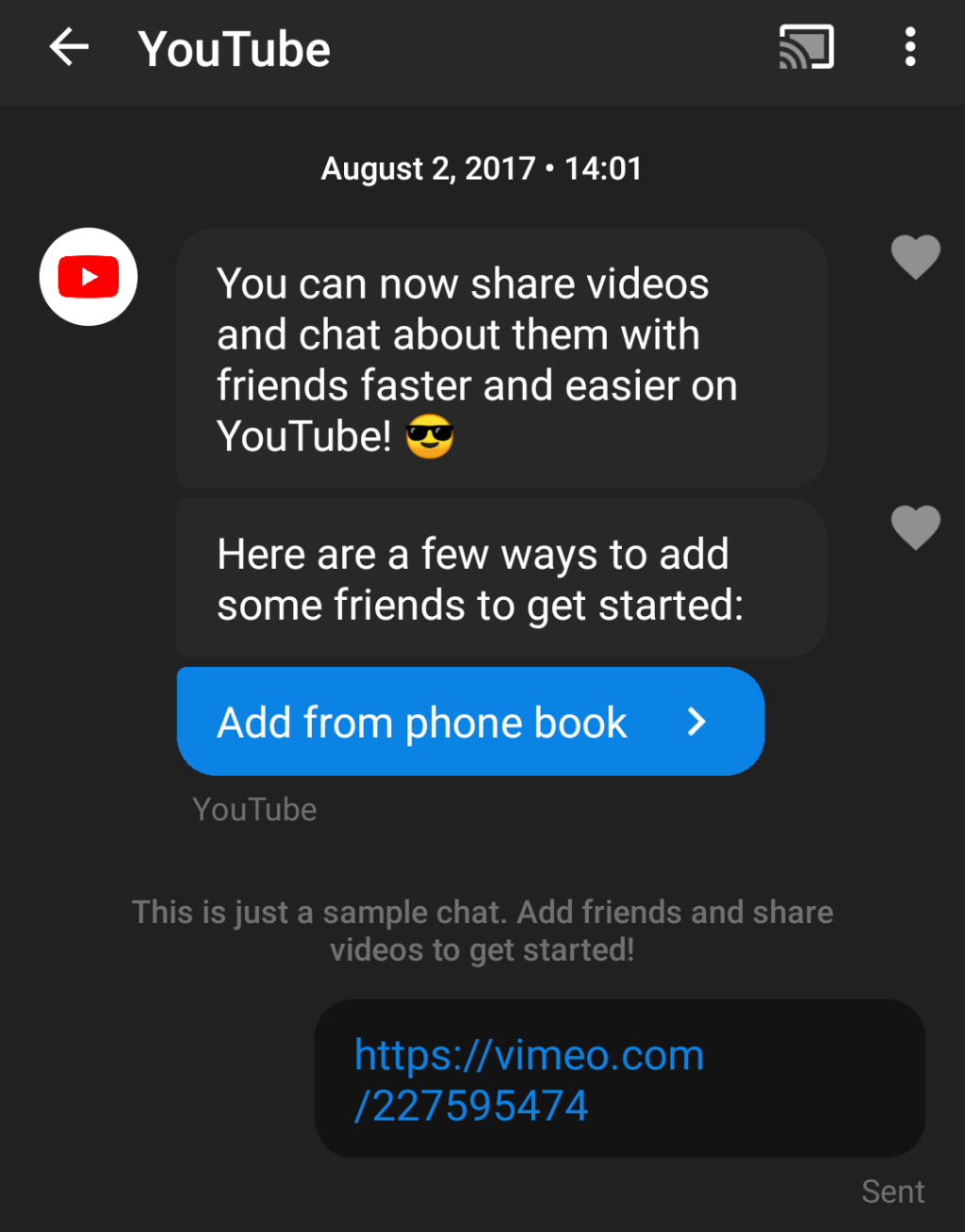 Testing YouTube chat in 2017