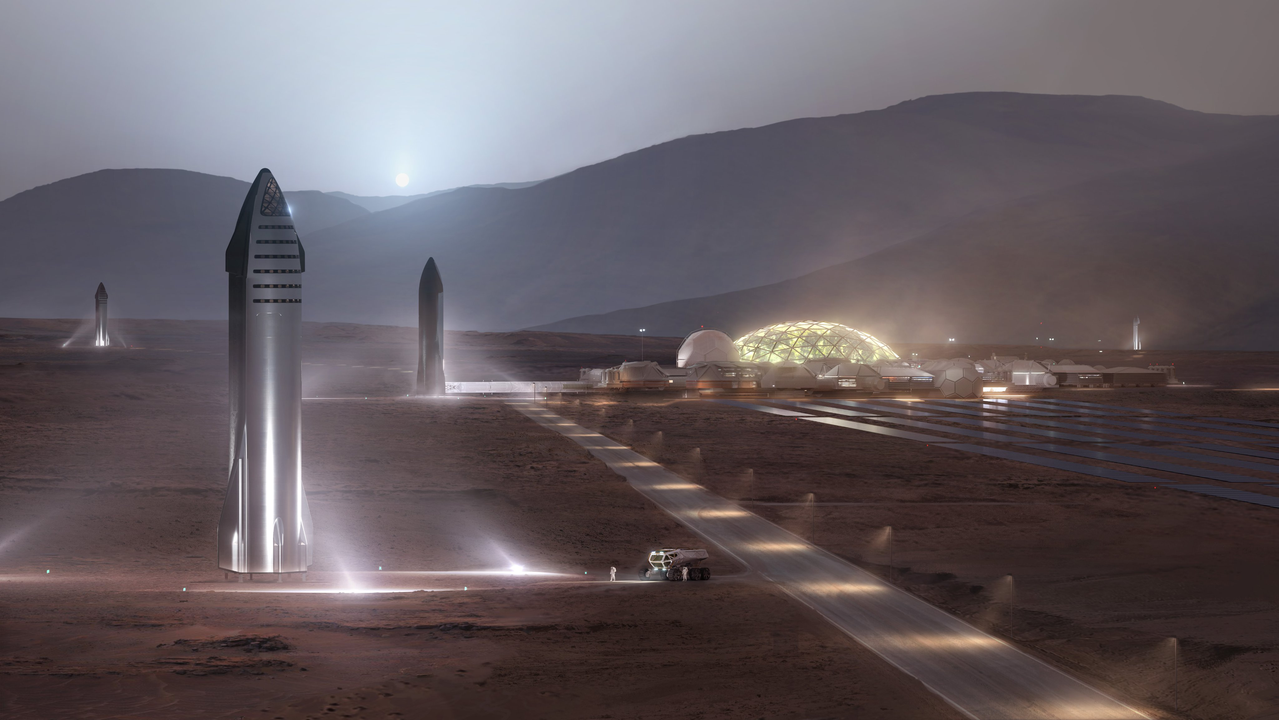 Elon Musk unveils Starship rocket for Moon and Mars missions ...