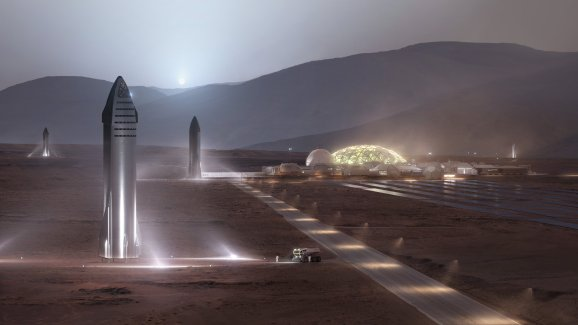 """SpaceX said that Starship will """"provide affordable delivery of significant quantities of cargo and people"""" for Moon bases and Mars cities"""