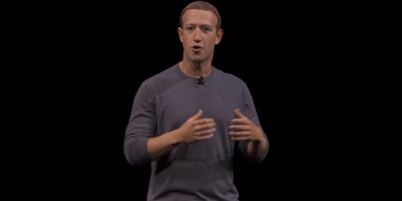 Facebook CEO Mark Zuckerberg speaks at Oculus Connect 6 in 2019.