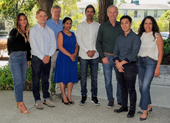 Signia Venture Partners team (left to right): HeidiBurns Hilton, David Bloom, Ed Cluss, Anagha Rae, Sunny Dhillon, Rick Thompson, Linus Liang, and Gina Domizio.