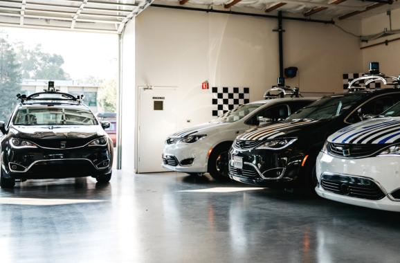 Voyage fleet of self-driving Chrysler Pacifica hybrid minivans